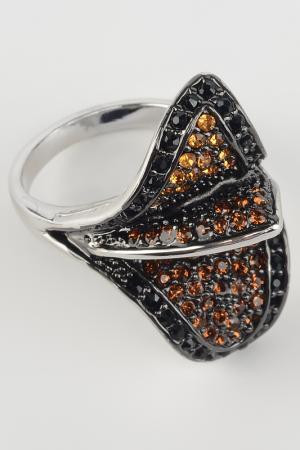 Кольцо Slava Zaitsev. Цвет: черный, коричневый, серебро