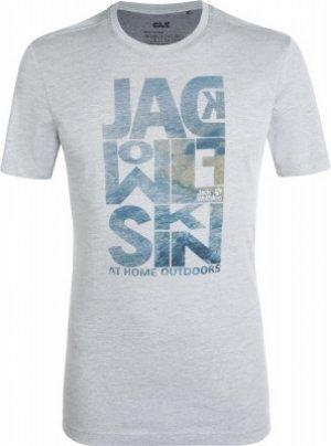 Футболка мужская Jack Wolfskin Atlantic Ocean, размер 50-52. Цвет: серый