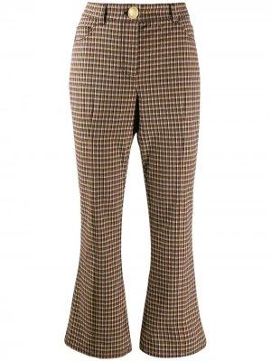 Расклешенные брюки с завышенной талией Derek Lam 10 Crosby. Цвет: коричневый