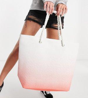 Коралловая пляжная сумка с эффектом омбре -Оранжевый цвет South Beach