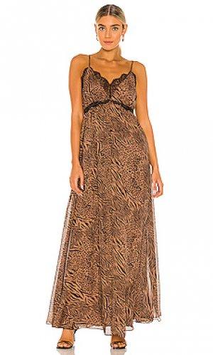 Макси платье marley CAMI NYC. Цвет: коричневый