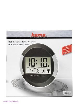 Часы Hama H-104936 настенные цифровые PP-245. Цвет: черный