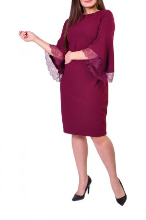 Платье Forus. Цвет: винный