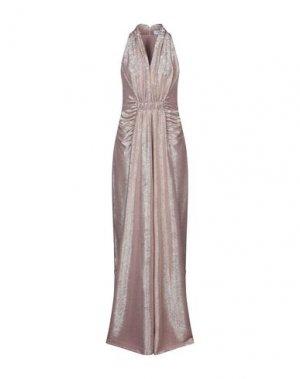 Длинное платье ANNA RACHELE. Цвет: телесный