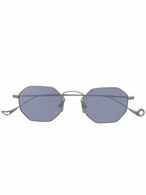 Солнцезащитные очки в шестиугольной оправе Eyepetizer. Цвет: серебристый