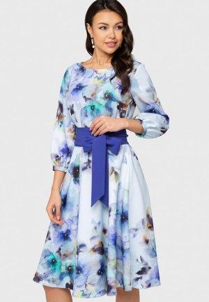 Платье Eva. Цвет: голубой