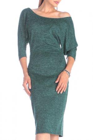 Платье REBECCA TATTI. Цвет: темно-изумрудный, черный