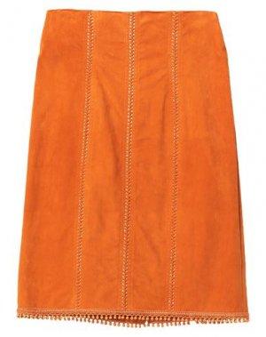 Юбка до колена JITROIS. Цвет: оранжевый