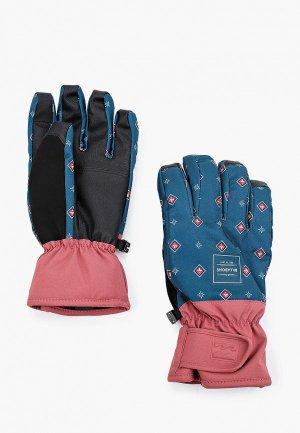 Перчатки горнолыжные Billabong. Цвет: зеленый
