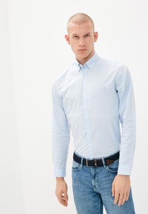 Рубашка Jack & Jones. Цвет: голубой