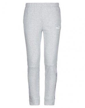Повседневные брюки PUMA. Цвет: светло-серый