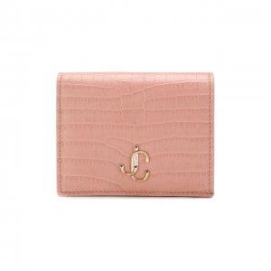Кожаное портмоне Jimmy Choo. Цвет: розовый
