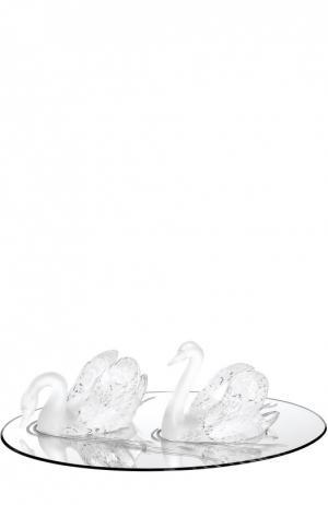 Зеркало Swan Lalique. Цвет: бесцветный