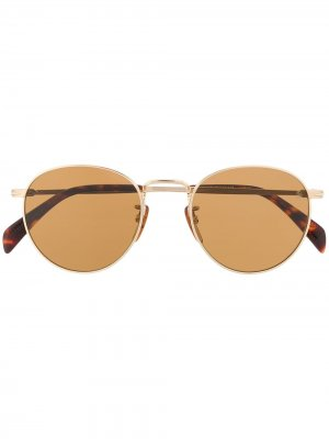 Солнцезащитные очки 1005/S в круглой оправе Eyewear by David Beckham. Цвет: золотистый