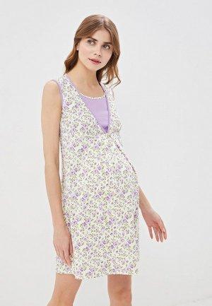 Платье домашнее Очаровательная Адель. Цвет: фиолетовый