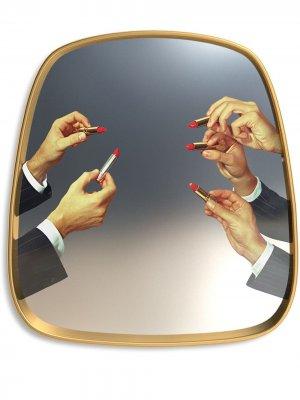 Зеркало для ванной Lipsticks Seletti. Цвет: золотистый