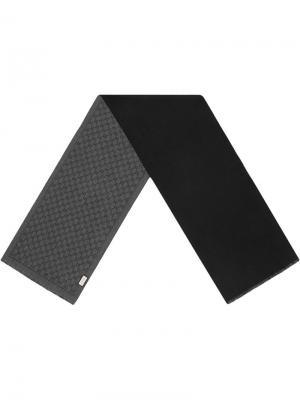 Жаккардовый шарф с узором GG Gucci. Цвет: черный