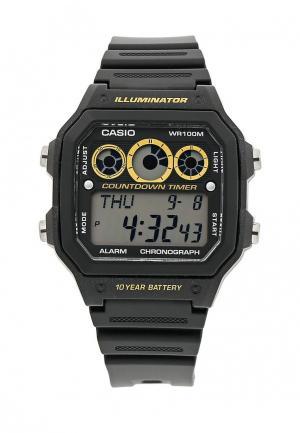 Часы Casio Collection AE-1300WH-1A. Цвет: черный