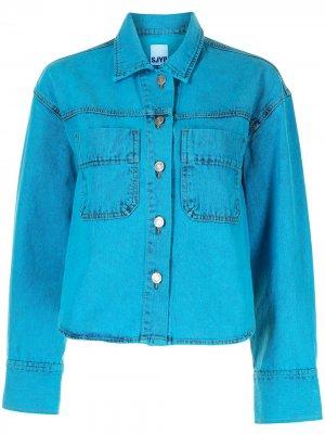 Укороченная джинсовая куртка SJYP. Цвет: синий