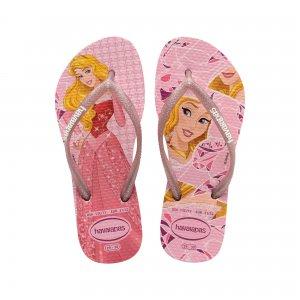 Kids Slim Princess Havaianas. Цвет: розовый