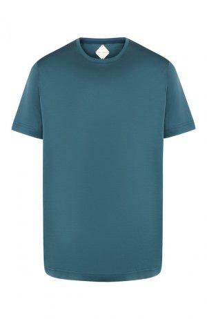 Хлопковая футболка Pal Zileri. Цвет: зелёный