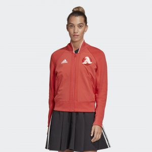 Куртка-бомбер VRCT Athletics adidas. Цвет: красный