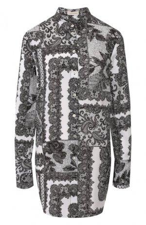 Рубашка из смеси вискозы и шелка By Malene Birger. Цвет: черно-белый