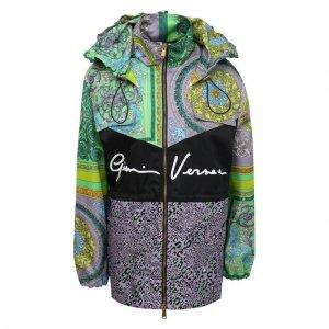 Ветровка Versace. Цвет: разноцветный