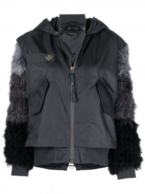 Куртка-бомбер с перьями Mr & Mrs Italy. Цвет: серый