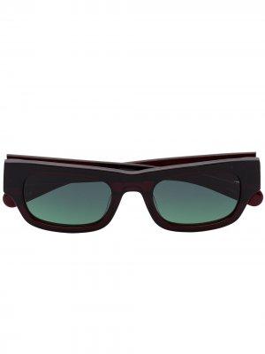 Солнцезащитные очки Frankie в квадратной оправе FLATLIST. Цвет: черный