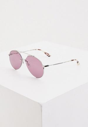 Очки солнцезащитные McQ Alexander McQueen MQ0263S 004. Цвет: серебряный