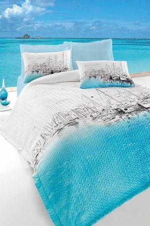 Детское постельное белье Cotton box. Цвет: blue, white, black