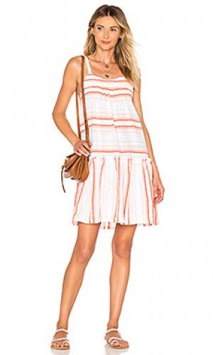 Платье fiesta Lemlem. Цвет: оранжевый