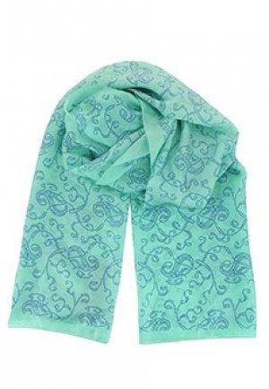 Шелковый шарф SMALTO. Цвет: зеленый