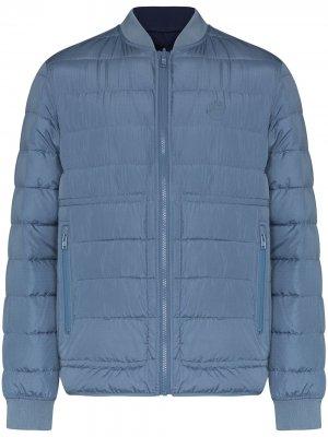 Стеганая куртка на молнии Kenzo. Цвет: синий