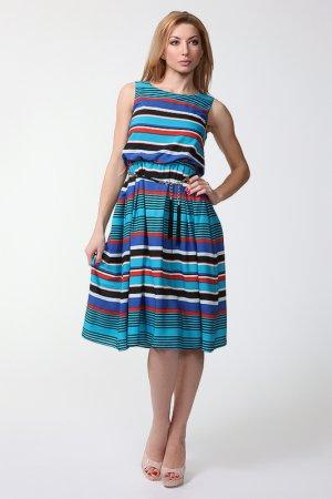 Платье Adelia. Цвет: синий