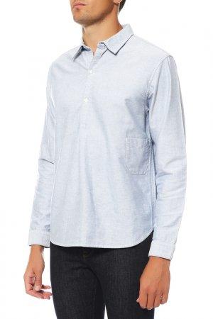 Рубашка GARBSTORE. Цвет: голубой
