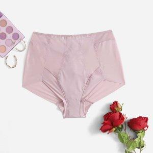 Корсеты и корректирующее белье рамзмера плюс SHEIN. Цвет: нежний розовый