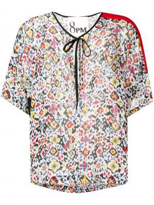 Блузка с цветочным принтом 8pm. Цвет: белый