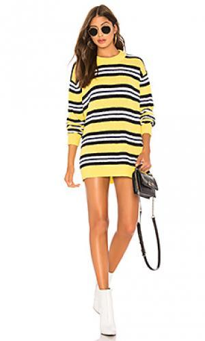 Пуловер robbins Tularosa. Цвет: желтый