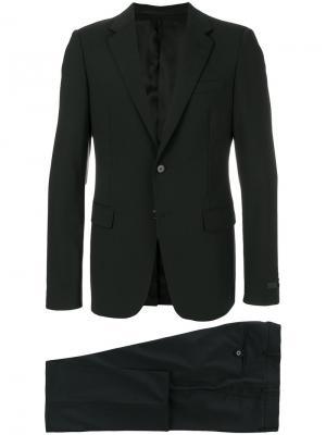 Классический костюм-двойка Prada. Цвет: черный