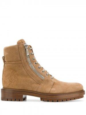 Армейские ботинки Ranger Balmain. Цвет: нейтральные цвета