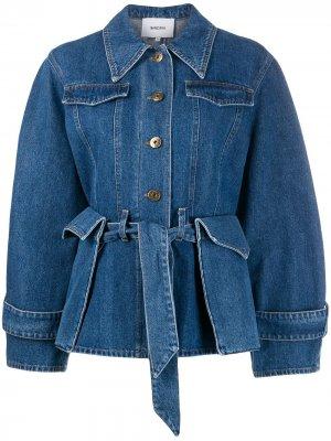 Джинсовая куртка с карманами Nanushka. Цвет: синий