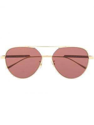 Солнцезащитные очки BV1013SK Bottega Veneta Eyewear. Цвет: золотистый