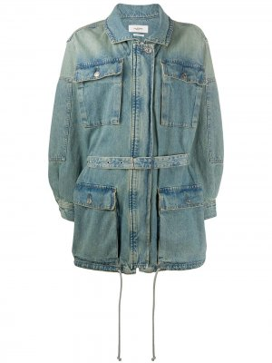 Джинсовая куртка Guila с поясом Isabel Marant Étoile. Цвет: синий