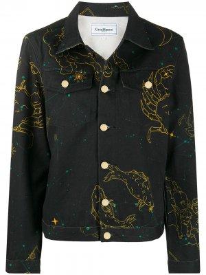 Джинсовая куртка Constellation Casablanca. Цвет: черный