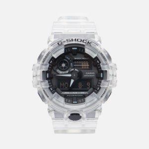 Наручные часы G-SHOCK GA-700SKE-7AER Skeleton Series CASIO. Цвет: белый