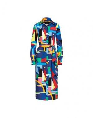 Платье длиной 3/4 LAUREN RALPH. Цвет: темно-синий