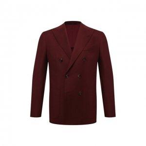 Шерстяной пиджак Eleventy. Цвет: бордовый
