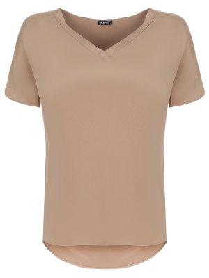 Блуза шелковая KITON. Цвет: бежевый